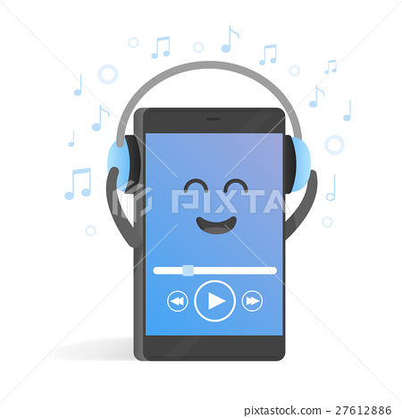 Smartphone concept of listening to music  27612886