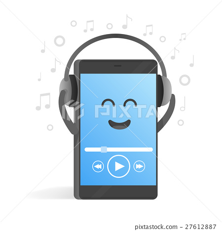 Smartphone concept of listening to music  27612887