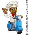 chef, delivery, cartoon 27613169