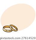 婚禮 戒指 草圖 27614520