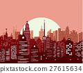 vector, sun, skyline 27615634