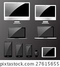 Vector illustration, set of modern electronic 27615655
