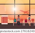 飛機 機場 卡通 27616240