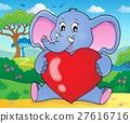 Elephant holding heart theme image 2 27616716