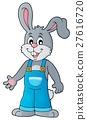 Happy bunny in overalls 27616720
