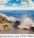 ocean, picturesque beach and blue sky 27617864