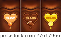 chocolate background heart with apricot, lemon 27617966