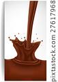 chcocolate splash background 27617968