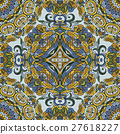 Flourish tiled pattern. Abstract floral geometric 27618227