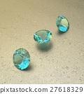 Background with blue gemstones. 3D illustration 27618329