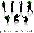 Silhouettes of photographer and cameraman 27619507