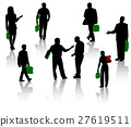 Silhouettes of businesspeople. Men and women. 27619511