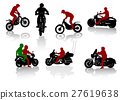 sports, silhouette, motorcyclist 27619638