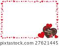 하트, 초콜릿, 벡터 27621445
