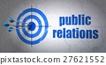 Advertising concept: target and Public Relations 27621552