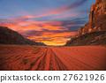 Sunset in desert 27621926