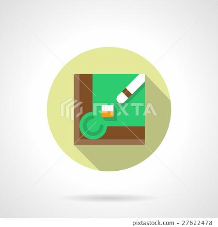 Play billiard flat round vector icon 27622478