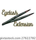 Color vintage eyelash extension emblem 27622782