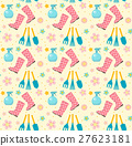 Gardening seamless pattern with garden tools 27623181
