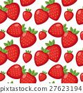 Strawberry seamless pattern. Berry endless 27623194