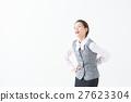 허리, 배를 억제 여성 (OL 사업) 27623304