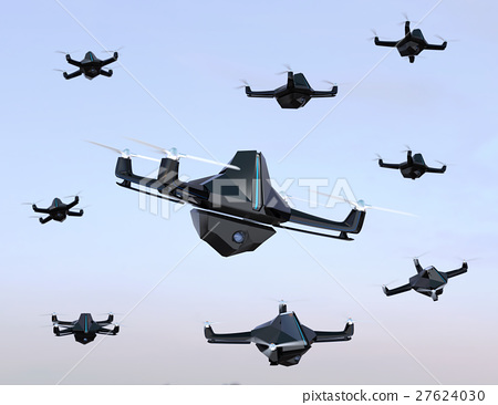 A group of stealth drone with a camera unit 27624030