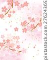 矢量 粉色 樱花盛开 27624365