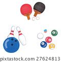乒乓球 保齡球 台球 27624813