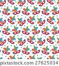 Carnival mask seamless pattern. Masquerade endless 27625034