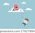 Businessman Climbing to Target on Cloud with Robe 27627884