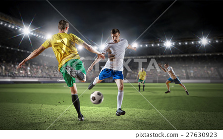 Hot moments of soccer match 27630923