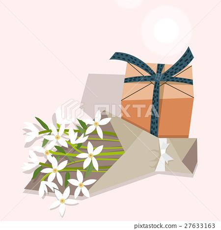 Anniversary Birthday Present Giftbox Stock Illustration