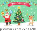 禮品盒 聖誕老人 聖誕老公公 27633201