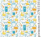 Dairy product seamless pattern. Flat style. Milk 27633301