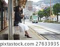 女性 公共汽車站 長崎 27633935