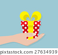 Gift Box In Hand Vector 27634939