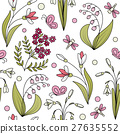 seamless pattern from spring flowers 27635552