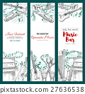 Musical instruments sketch, music festival banners 27636538