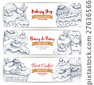 bakery, dessert, sketch 27636566