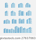 set of building icon vector illustration 27637063