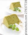chiffon cake, green tea chiffon, cake 27637728