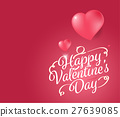 Happy valentine's day typography design. 27639085