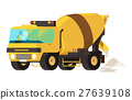 Concrete mixer truck. concrete machine truck. 27639108