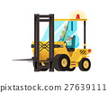 Forklift carries isolated on white background.  27639111