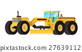 Motor grader. Heavy equipment vehicle isolated 27639112