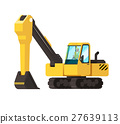 vector flat industrial excavator. icon design 27639113