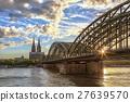 쾰른, 성당, 일몰 27639570