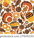 Vector food bakery seamless pattern with baked 27640244