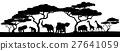 animal, silhouettes, silhouette 27641059
