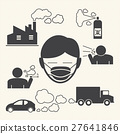 wearing mouth mask against air pollution 27641846